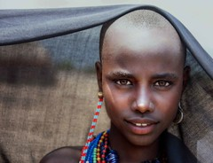 Abore Tribe (Rod Waddington) Tags: africa african afrique afrika äthiopien ethiopia ethiopian ethnic ethnicity etiopia ethiopie etiopian abore traditional tribe tribal culture cultural girl child beads portrait minority omovalley outdoor omo omoriver village