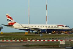 G-LCYZ on the Eastern Apron (Ibirdball) Tags: bacityflyer embraer e190 glcyz klmukengineering norwich egsh nwi britishairways