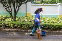 Street Cleaner, Macau (Geraint Rowland Photography) Tags: macau macao wowmacao macauchina macauclothing macauculture street streetphotography streetportrat environmentalportrait streetcleaner hat macauhat asia travelasia asianwoman wwwgeraintrowlandcouk geraintrowlandinmacau wanderlusttravelmagazine visitmacao
