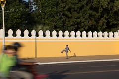 Man Exercising Near the Royal Palace, Phnom Penh