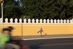 Man Exercising Near the Royal Palace, Phnom Penh