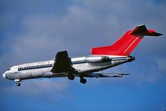 N497US NORTHWEST ORIENT 727-51C at KCLE (GeorgeM757) Tags: n497us n435ex 9llek northwestorient 72751 boeing 727 kcle georgem757 landing predigital aircraft aviation airplane airport om2
