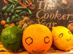 A Citrus Smile for my Smile on Saturday Friends (soniaadammurray - On & Off) Tags: iphone citrusfruit smile kitchen shadows interior reflections hsos cookbook artchallenge smileonsaturday frutaria humorous
