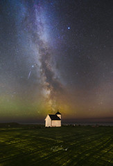 MIlky way over old church (kenthelleland) Tags: milkyway milky way galaxy home universe astronomy space stars star nightsky nightimage nightshot astrofotografering astrophotography church old oldchurch landscape nature ocean coast sea sky nighttime darkness meteorshot satelite satelitt stjerneskudd varhaug jæren rogaland norway norge landscapeastrophotography canon skywatcher staradventurer adventurer trackedimage starrynightsky stjerner