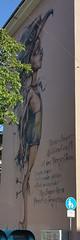 My Super Hero Power is Forgiveness (crystalseas) Tags: art herakut mannheim f615 mural grafitti
