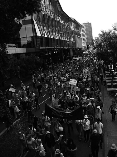 School Strike 4 Climate Brisbane 076 BW