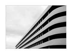 back in Germany (Armin Fuchs) Tags: arminfuchs building house stripes diagonal sky clouds niftyfifty