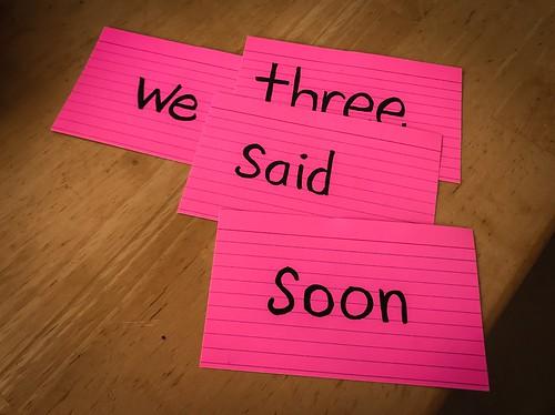 We Three Said Soon