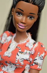 I hate rerooting, but sometimes you have to grit your teeth and do what has to be done, otherwise a nice doll will suffer. (Stary_Zgred) Tags: christie mattel barbie
