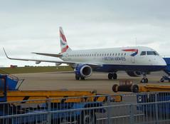 G-LCYK on stand 6 (Ibirdball) Tags: britishairways bacityflyer embraer e190 glcyk klmukengineering norwich egsh nwi