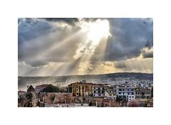 The heavens above ! (CJS*64) Tags: chania oldtown greece colour colours cjs64 craigsunter cjs clouds sunrays sky city morning nikon d7000 nikond7000