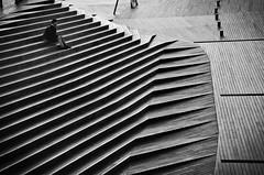stairway (reiko_robinami) Tags: street streetphotography stairs urban outdoors oneperson cityscape monochrome blackandwhite lines yokohama japan