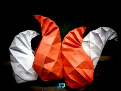 Paisley designed by Shachi Jain(me), July, 2019 (Shachi2016) Tags: origami paisley shachijain corrugations design original creative project paperfolding paperart paper