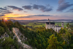 Sunset at Neuschwanstein Castle (Alexander Lauterbach Photography) Tags: deutschland germany neuschwanstein schloss castle bayern bavaria alps mountain sunset travel landscape sony a7rii