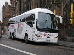 City Circle of Hayes Scania K410EB6 Irizar i6s YN18SXV 154, in Globus Tours vinyls, at Johnston Terrace, Edinburgh, on 10 September 2019. (Robin Dickson 1) Tags: citycircle globustours busesedinburgh scaniak410eb6 irizari6s yn18sxv