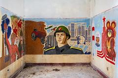 (franconiangirl) Tags: mural gssd soldier soldat verlassen ehemalig kaserne sovietmilitarybase sowjetisch soviet cccp sovietunion sowjetunion udssr ehemaligekaserne sovietmilitarycamp wandbild abandoned decay derelict sovietarmy militarydecay abandonado mischka