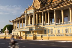 Main Road in Front of Royal Palace, Phnom Penh