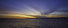 Lough Foyle sunset (jac.photography49) Tags: autumn airsea canon clouds coast donegal exposure reflections fullframe foyle hills images ireland inishowen wideangle view 5dmkiii lough loughfoyle mountain northernireland ngc sea sunset waves water 24mm tse