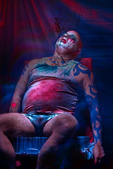 into the mercy seat I climb: my head is shaved, my head is wired (gh0stdot) Tags: lensfilter nightlife london doublerclub club stage bethnalgreen davidlynch cabaret canon 80d portrait bestviewedonamac