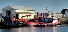 Photo of boats Troon harbour Scotland