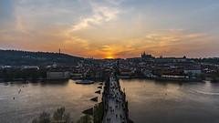 Sunset of Charles Bridge (一 B_A_C 一) Tags: prague zech 布拉格 捷克 europe 歐洲 sony a73 a7iii a7m3 a7 taiwan 台灣 外拍 旅拍 travel 街拍 street streetphoto streetshot sunset 日落 city