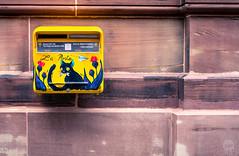 Cat on a Mailbox (dlerps) Tags: amount city daniellerps eu europe fr france frankreich french lerps photography sony sonyalpha sonyalpha99ii sonyalphaa99mark2 sonyalphaa99ii strasbourg summer urban httplerpsphotography lerpsphotography painting cat mailbox yellow wall streetart planar5014za carlzeiss postbox feline planart1450 mail post carlzeissplanar50mmf14ssm chatnoir laposte