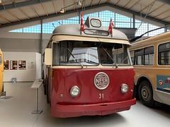 🇩🇰Smith-Mygind-Hüttemeier-Trolleybus 31 (Leyland/BUT-Chassis) der Nordsjællands Elektricitets-og Sporvejs Aktieselskab (NESA) (msslovi0) Tags: bus museum sporvejsmuseet skjoldenæsholm trolley trolleybus obus nesa smithmygindhüttemeier nordsjællandselektricitetsogsporvejs nordsjællandselektricitetsogsporvejsaktieselskab
