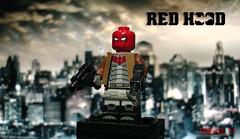 LEGO Custom Red Hood (GZer0_11) Tags: lego custom decal red hood robin jason todd superhero batman outlaws death family superheroes