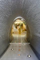 Selfie (Restless Eye) Tags: newyorkcity newyork usa tunnel door doorway glass airlock spaceship selfie