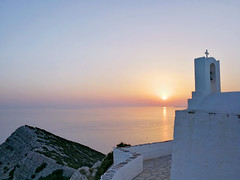 Magic Light 2 (Bo.Th) Tags: greece holidays religion rocks mountain sea sky seascape sun stones sunset structure silence stone summer water relax romantic rock dreaming travel sidewalk stairs moody history outdoor building church light view colors landscape calm walk sifnos