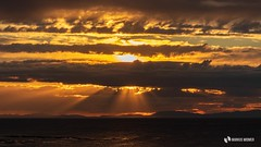 Scotland sunset Lossiemouth (Markus.Widmer) Tags: rays atmospheric stimmung strahlen black farben yellow sunset light