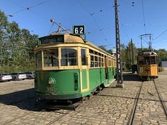🇨🇦M&MTB-Wagen 965 des Melbourne & Metropolitan Tramways Board (Regelspur) und 🇩🇰Scandia-Wagen 3 der Århus Sporveje (Meterspur) (msslovi0) Tags: strasenbahn tram tramway sporvej museum sporvejsmuseet skjoldenæsholm melbournemetropolitantramways mmtb scandia århussporveje