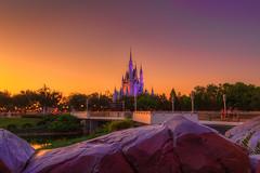 Castle Sunset | Magic Kingdom (Pandry 2015) Tags: travel themepark sunsetphotography canonusa canon6d vacation twilight sunsets flickr colors sunset cinderellacastle magickingdom orlando waltdisneyworld disney