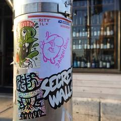 Maria (Question Josh? - SB/DSK) Tags: sticker stickers sticks slaps stickr streetart chicago angelonce konkr josh