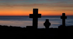 Sunsetting (Photos taken with Sony mirrorless cameras) Tags: padrig anglesey wales sky cross church grave