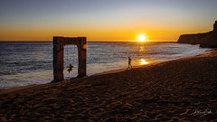 Swing between the waves of sea and sand (Selectivebits) Tags: davenport california water sea sunset beach sand wave swing 80 greatphotographers