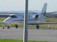 Cessna Citation - CS-DXX - Netjets Europe (cessna152towser) Tags: aircraft aeroplane aviation carlisle cessna citation bizjet