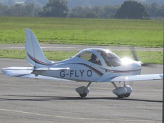 EV97 Eurostar - G-FLYO (cessna152towser) Tags: aircraft aeroplane aviation carlisle ev97 eurostar microlight