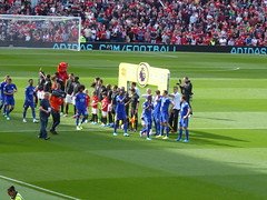 Teams line up (lcfcian1) Tags: manchester united leicester city mufc lcfc old trafford stadia stadium ground footy epl bpl premier league manchesterunited leicestercity oldtrafford premierleague
