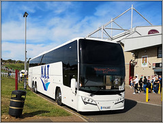 New Adventure Travel 122 (Jason 87030) Tags: coach soccer football sport sixfields pits pts academy stadia stadium crowd fans ntfc northampton town caerdydd cardiff newport county northants northamptonshire wheels transport valiants adventure little big grounds uk england huawei match win victory result