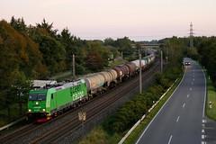 P1930660 (Lumixfan68) Tags: eisenbahn züge loks baureihe 185 elektroloks drehstromloks bombardier traxx green cargo güterzüge