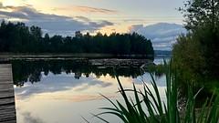 Tranquil Waterscape (halleluja2014) Tags: tranquility summer september atmosphere kväll dusk waterscape dalarna falun varpan sjö lake