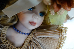 Hello Dolly (gabi-h) Tags: hellodolly doll vintage antiquedoll prettygirl victorian milfordfallfair gabih face blueeyes necklace lace ruffles princeedwardcounty ribbons