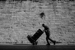 Wall (K.BERKİN) Tags: way worker wall turkey human people street streetphoto streetphotograpy life istanbul ilce7rm3 city blackwhite bosphorus mirroless