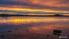 Sunset Lossiemouth with rain (Markus.Widmer) Tags: farben gelb blue atmospheric rain sunset regen sea water spiegelung colors meer reflection yellow orange light