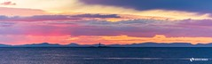 Panoramic sunset Lossiemouth (Markus.Widmer) Tags: schottland gelb blue scotland sunset blau violet colors yellow meer sea