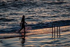 On The Edge (Stephen Reed) Tags: girl coast sea water sunset cornwall england nikon d7500