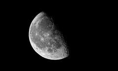 Half Moon (Curefitz) Tags: moon half sigma 600mm 150600mm astrophotography dark black light crater nikon d500 awesome amazing night sky denmark nordjylland scandinavia