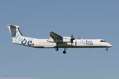 G-ECOD - 2008 build Bombardier Dash 8-402, on approach to Runway 05R at Manchester (egcc) Tags: 4206 be bee bombardier dh8d dhc dash8 dash8402 dehavillandcanada egcc flybe gecod lightroom man manchester ringway