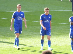Jonny Evans and Harvey Barnes (lcfcian1) Tags: manchester united leicester city mufc lcfc old trafford stadia stadium ground footy epl bpl premier league manchesterunited leicestercity oldtrafford premierleague jonnyevans harveybarnes